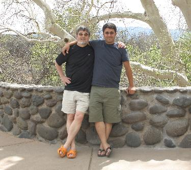 with Noah in Arizona in April. Had not run a single race yet.